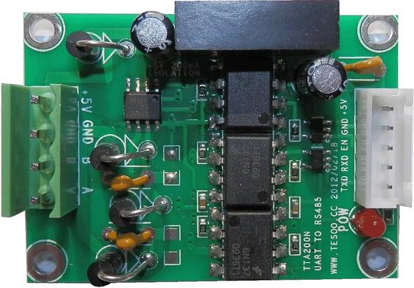 ttl 485通讯接线图